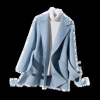Winter Women Wool V Neck Short Coats JECH 2018 Popular Fashion Casual Wool Multi color Coat Female Coat Top Grade Coat Female