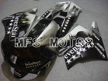 MOTORCYCLE FAIRING ABS BODYWORK SET FOR HONDA CBR600 F2 1991-1994 91 92 93 94Injection Free Shipping Black Silver