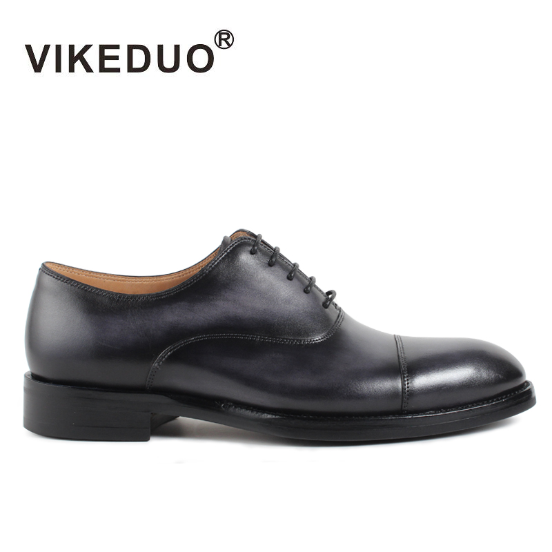 Vikeduo 2018 Handmade Vintage Retro Designer Luxury Party Wedding Male Shoe Genuine Leather Men Oxford Dress Shoes Blake Zapatos цены онлайн