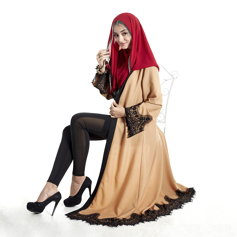 Elegant Lace Muslim Abaya Clothes Arab Garment Turkish Jilbab Dubai Long  Maxi Dress Muslims Women Dresses Islamic Clothing E006-in Islamic Clothing  from ... 181b6b3e8dc4