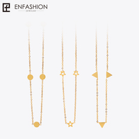Enfashion Geometric Triangle Circle Star Choker Necklace Gold Necklaces Pendants Stainless Steel Necklace Women Chocker Jewelry