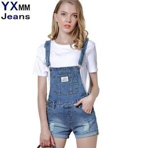 aed4d19cc0f8 DTYNZ Denim Women 2018 Jeans Ripped Shorts Plus Size Pants