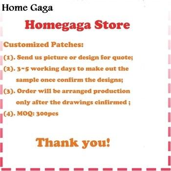 Дома Гага вышивка на заказ ваш логотип патч/пользовательские вышитые патчи утюг на Костюмы патч с аппликацией печать на ткани
