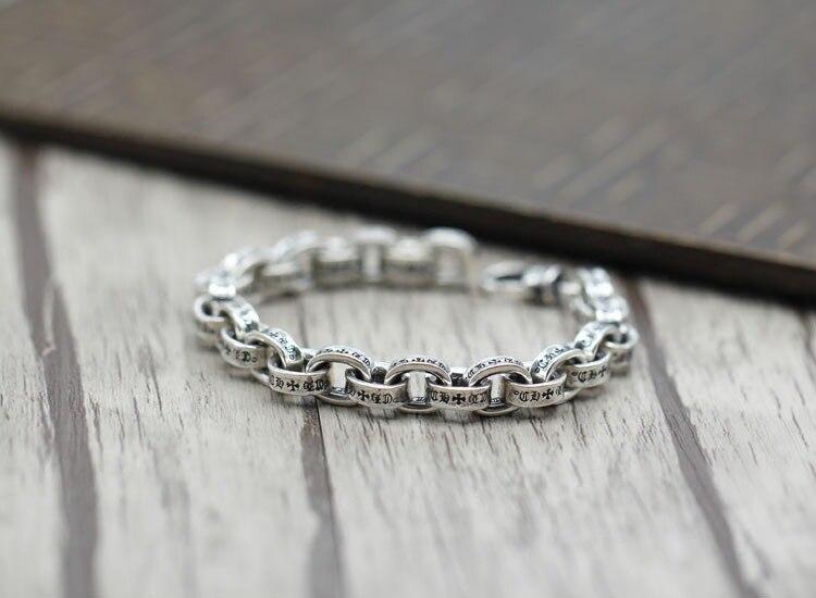 100% 925 en argent sterling hommes bracelet de luxe t hommes haute bijoux cadeau d'anniversaire homme homme 925 bracelet en argent sterling bracelet à breloques - 5