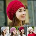 Women Winter Warm Cap Korean Version Knitted Hat Rabbit Fur Headgear Headdress