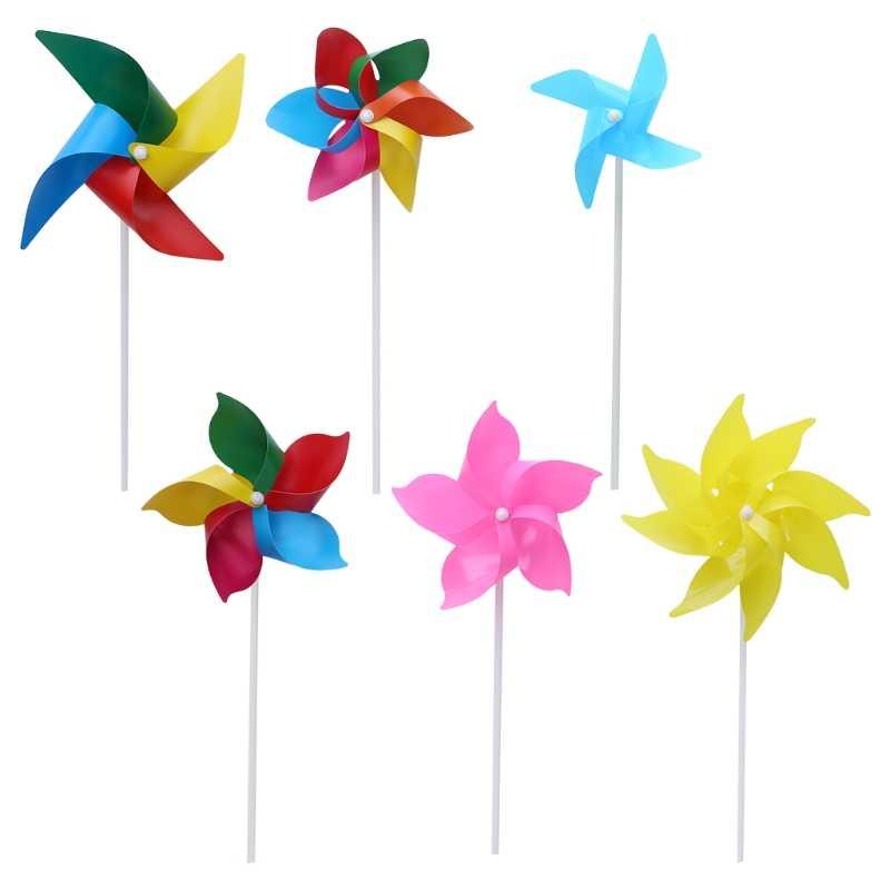 10 комплектов штифт ветряной мельницы ветряной Спиннер садовое уличное украшение игрушки на открытом воздухе DIY
