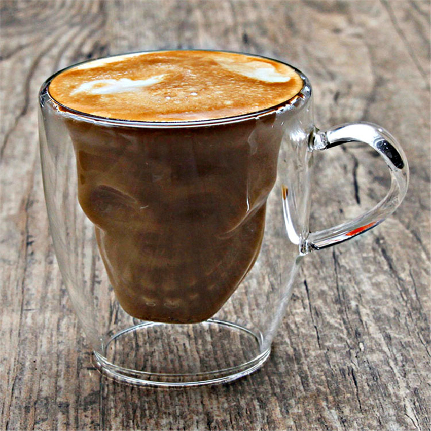 Cup Coffee Tea Mug Skull Insulated Mugs