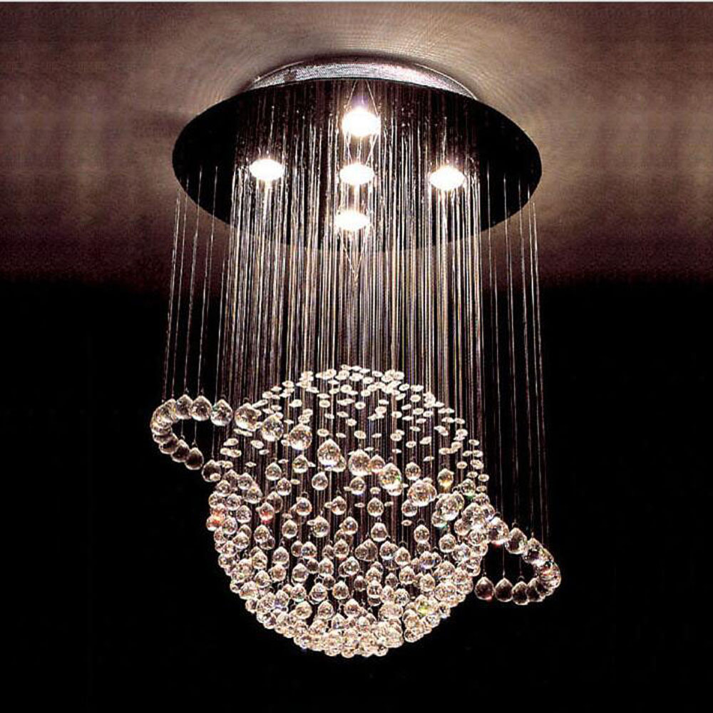 Globes bedroom living room lamp LED crystal ceiling lamp simple modern dining room restaurant chandeliers double staircase light