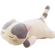 Stuffed Animal Sleeping Cat Plush Pillow Toy Cute Pillow Brinquedos Menina Birthday Gift Almofadas Toys For Children 60G0556
