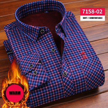 8a8f6e569fb63b6 Dudalina 2017 Slim Fit для мужчин зимнее платье с длинными рукавами рубашка  теплая повседневное Винтаж решетки в полоску мужская деловая рубашка Camisa  .