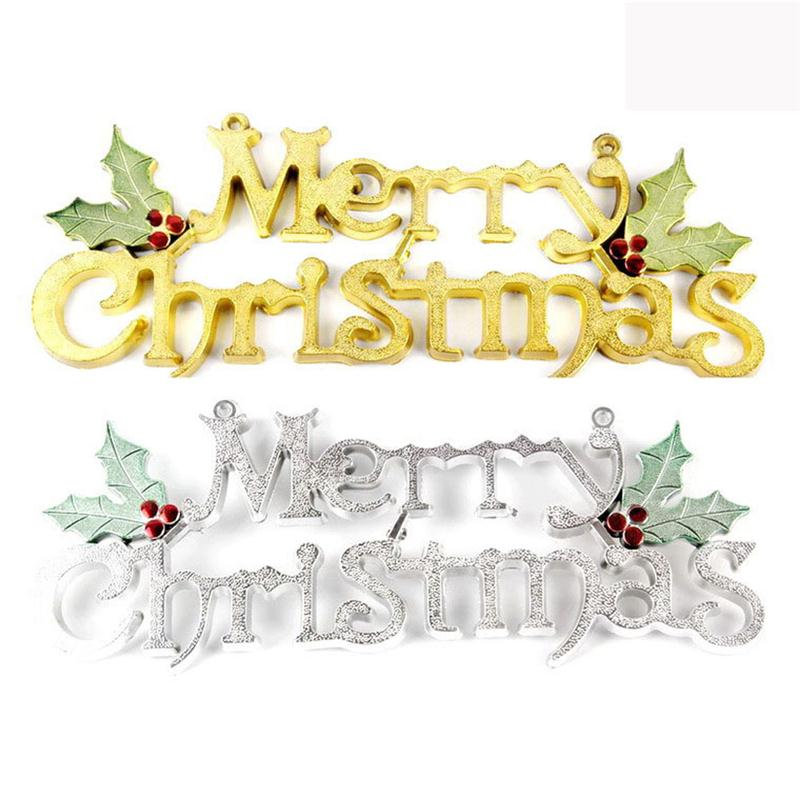 50cm MERRY CHRISTMAS Door Hanger Christmas Tree Ornament Holiday Signs  Decoration Party Decor(China)