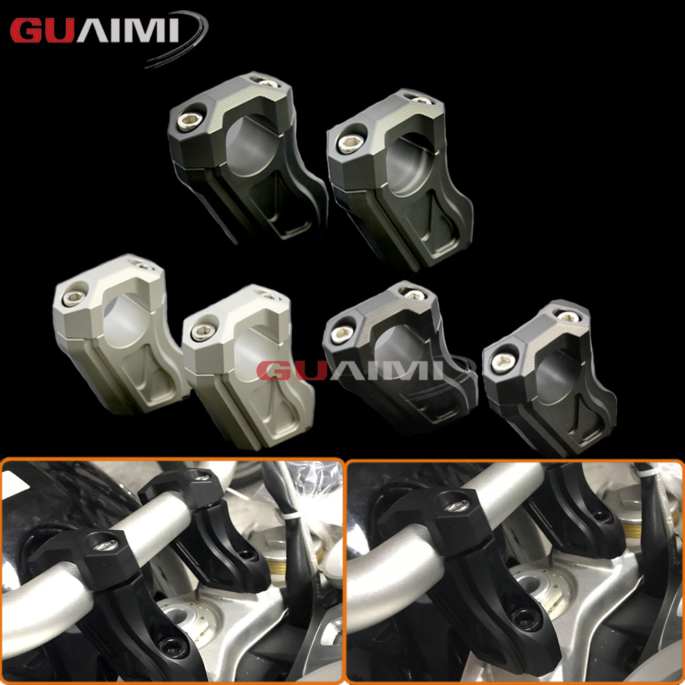 For BMW R NINET 14-17 Motorcycle Handlebar Riser Handle Bar Clamp Extend Adapter handlebar riser handle bar clamp extend adapter for bmw r1200gs lc r 1200gs adv 2013 2018 14 15 16 17 motorcycle accessories