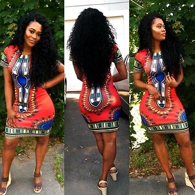 bad1281a081e Women Boho Dashiki Dresses Shirt African Gsypy Clubwear Short Mini Dress  Women Clothing