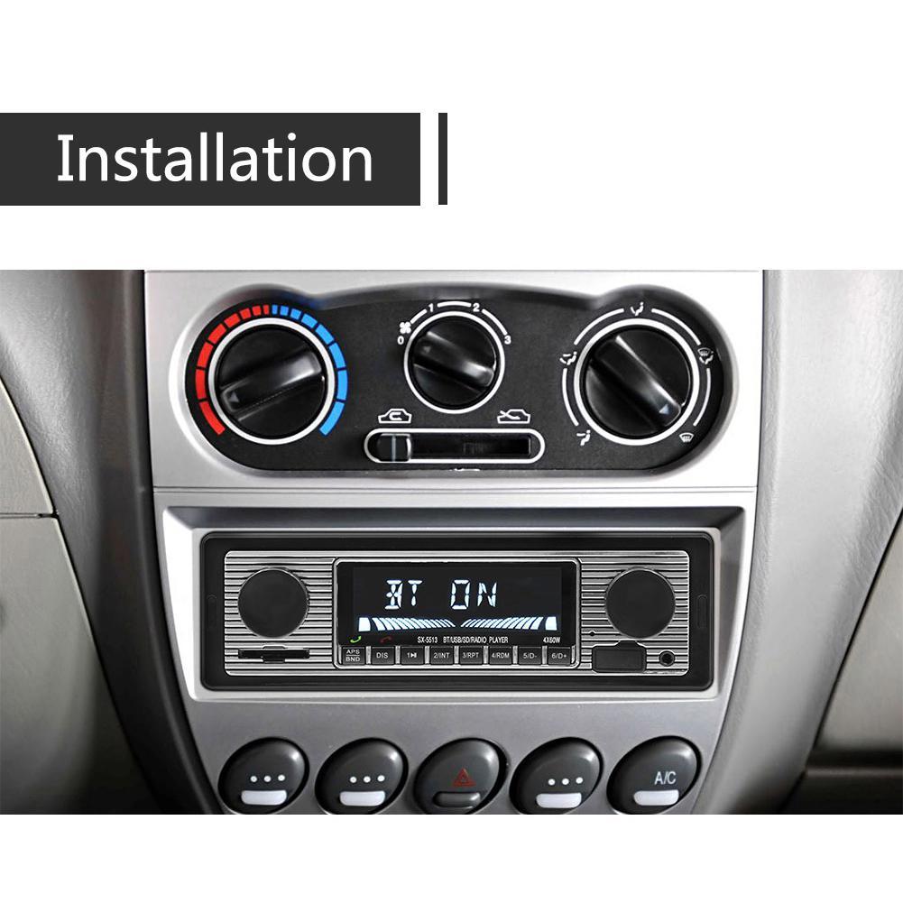 Bluetooth Vintage Car Radio MP3 Player Stereo USB AUX Classic Car Stereo Audio