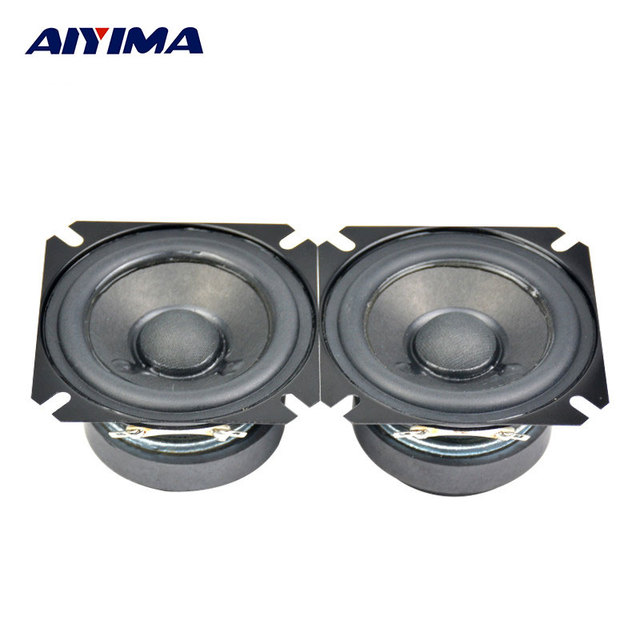 AIYIMA 2Pcs 2.5Inch Audio portable Speakers 4Ohm 15W Full Range Speakers Top HIFI Digital Speaker Tube Amp Good Audio Sound