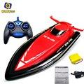 Huanqi 40 cm tamaño grande 2.4g barco rc para niños eléctrica 4CH RC Barco Lancha Rápida Modelo de Barco Control Remoto lancha RC toys