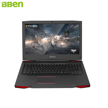 BBEN G17 Laptop Intel i7 7700HQ NVIDIA GTX1060 16G RAM 256GB SSD PCI-E 1T HDD RGB Mechanical Keyboard Gaming Computer Windows 10