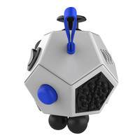 Kids Adults Decompression Magic Cube Puzzles Anti Stress Reliever 12 Sides Magic Fidget Cube Novelty Toy