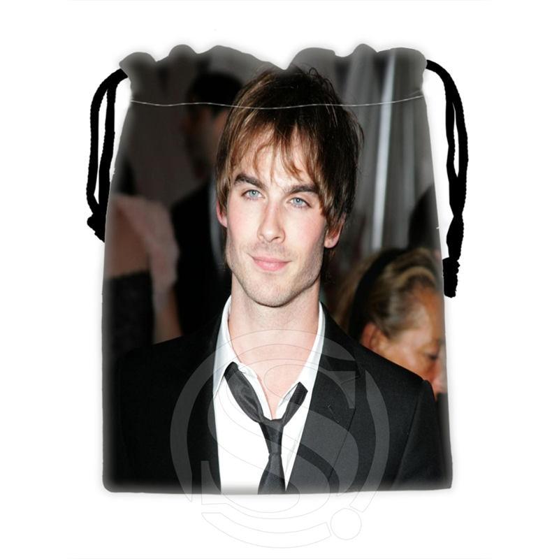 H-P730 Custom Ian Somerhalder#4 Drawstring Bags For Mobile Phone Tablet PC Packaging Gift Bags18X22cm SQ00806#H0730