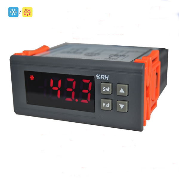 220V Digital Air Humidity Control Controller Hygrometer and Hygrostat Humidistat digital indoor air quality carbon dioxide meter temperature rh humidity twa stel display 99 points made in taiwan co2 monitor
