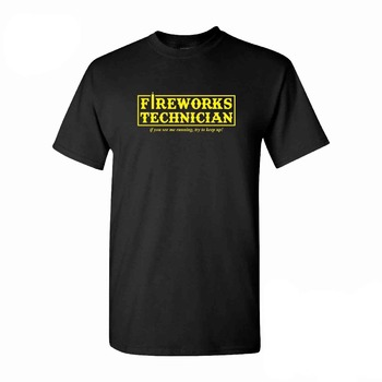 2019 Men 100% Cotton Fireworks Tech T-Shirt - Fourth of July Fireworks 4Th - Great Gift Idea Novelty Funny Tshirt Sayings