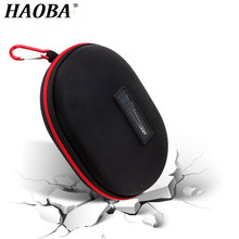 HAOBA  Waterproof Earphone Case Hard EVA Case For Studio 2.0 Headphone Solo1 Solo 2 3 Headset Pouch Bag Box For Marshall