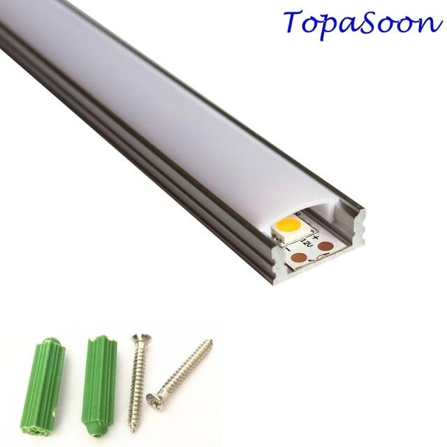 Светодиодный алюминиевый профиль длиной 1 м, 10 шт., бесплатная доставка, Светодиодная лента, алюминиевый корпус канала, артикул LA LP07 для светодиодной ленты шириной 12 мм