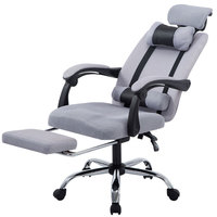 Office Computer Chair Home Furnture Cloth Lifting Reclining Gaming Revolving Footrest for Office High Back Ergonomic Armchair