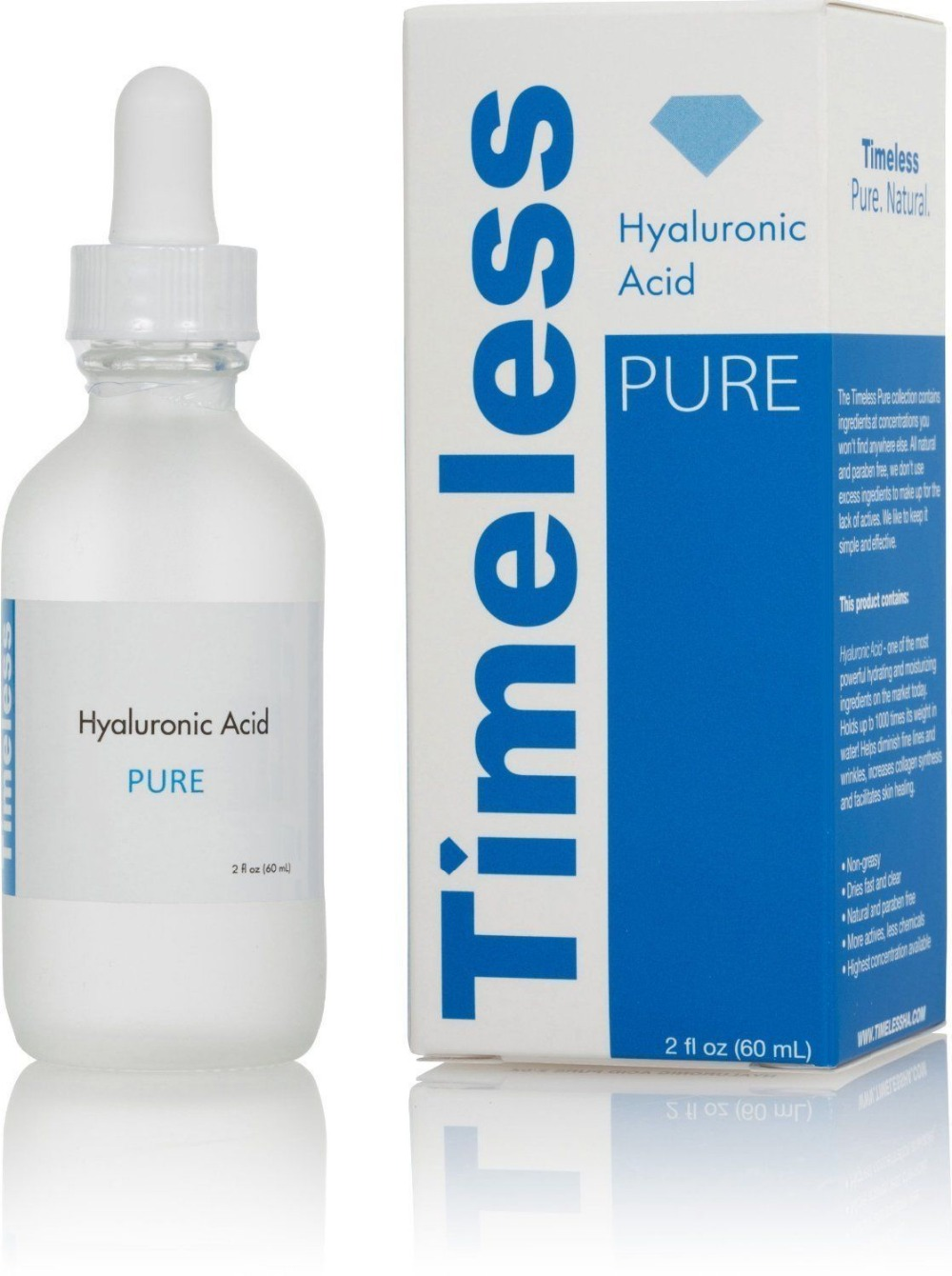 The Best 100% Hyaluronic Acid Pure! Nature! Age Less With Timeless /Sealed/2oz