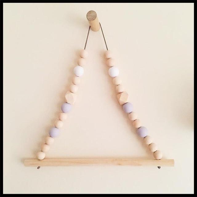 Nouvelle Arrivée Mur En Bois Bébé Chambre Sur Le Mur Maca Perle cadre décoratif accessoires pour Enfants Chambre décoratif Cadeau d'anniversaire