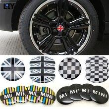 LQY 4PC acessórios do carro do centro de roda hub capa para Mini coopers R50 R51 R52 R53 R52 R55 R56 R57 r58 r59 R60 R61 °F 55 °F 56