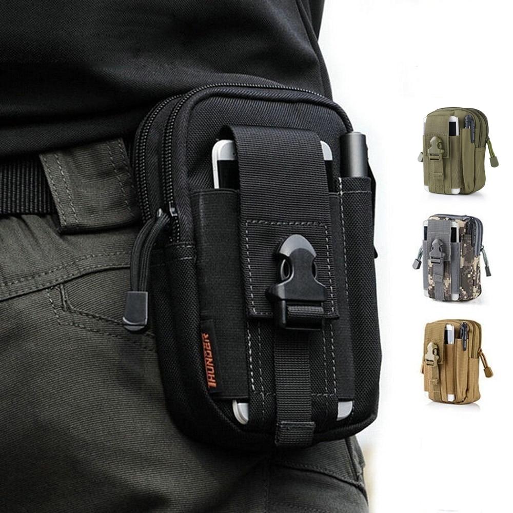 सामरिक 1000D कोर्डोरा मोले कमर बैग पुरुषों के आउटडोर खेल आकस्मिक कमर पैक पर्स मोबाइल फोन के मामले के लिए कोरडा
