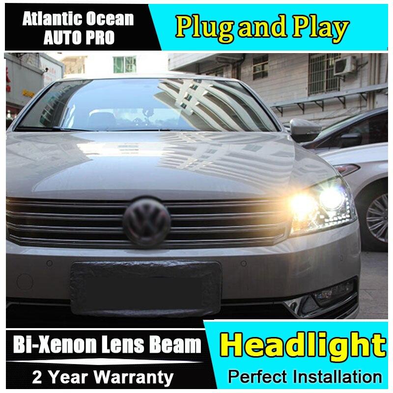 Авто.Про 2011-2015 фары для VW автомобиль Passat В7 Европе стайлинг линзы би ксенон спрятанный набор фары СИД DRL для VW Пассат парковка