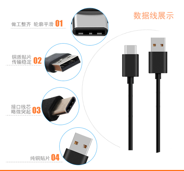 Original xiaomi USB Type C Cable 2A USB-C Cable Type-C Fast Charging Cord for xiaomi mi 4c 5 5s 6 6x a1 a2 8 8se mix 2 2s max 3