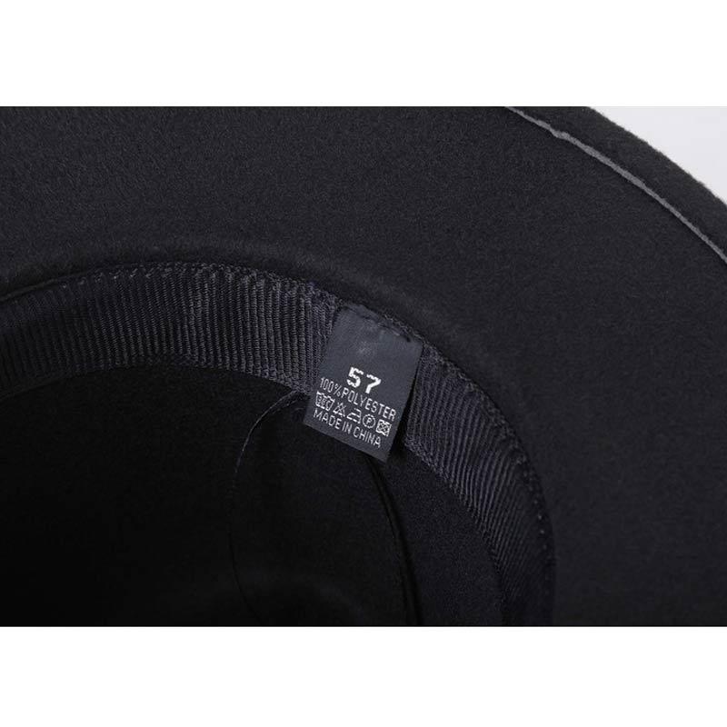 Chapeu sombrero Fedora femenino de Chapeu de diseño de feutre para Laday  ala ancha Sombreros Jazz Iglesia gorra Panamá Fedora sombrero superior en  Sombreros ... f827c21f4aa