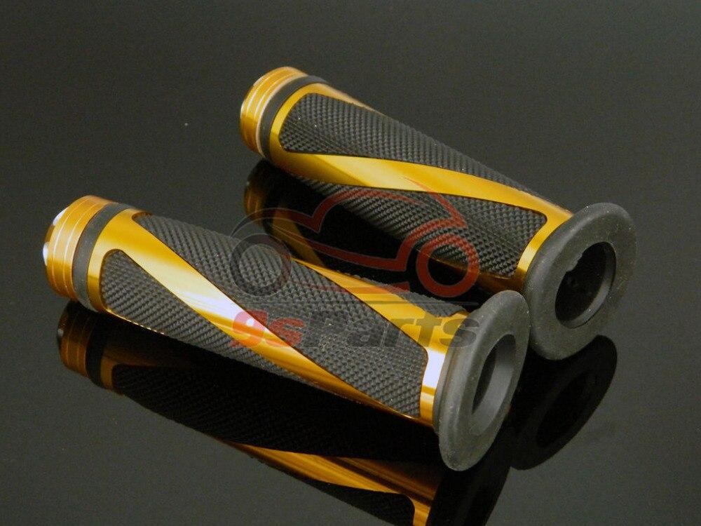 """Золотой алюминиевый гоночный мотоцикл 7/"""" Гель для руля прорезиненные ручки для Honda Yamaha Suzuki Kawasaki KTM ATV Ducati"""