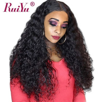 RUIYU Deep Wave Wig 360 Lace Frontal Wig PrePlucked With Baby Hair Brazilian Curly Human Hair Wigs For Black Women Remy 360 Wigs