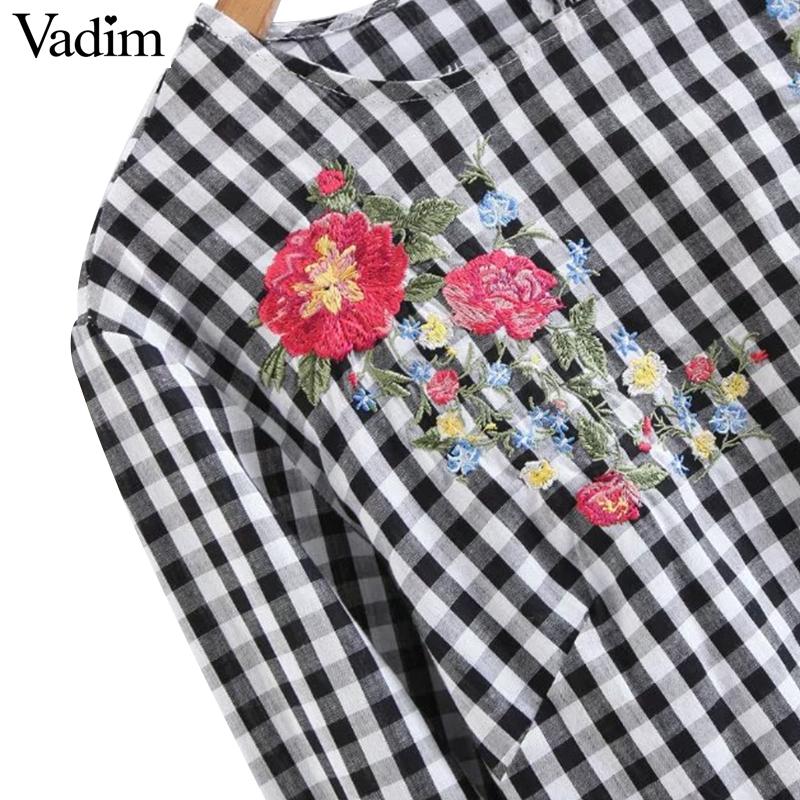 HTB1oDdhPVXXXXayaXXXq6xXFXXXm - Women sweet flower embroidery flare sleeve shirt long sleeve