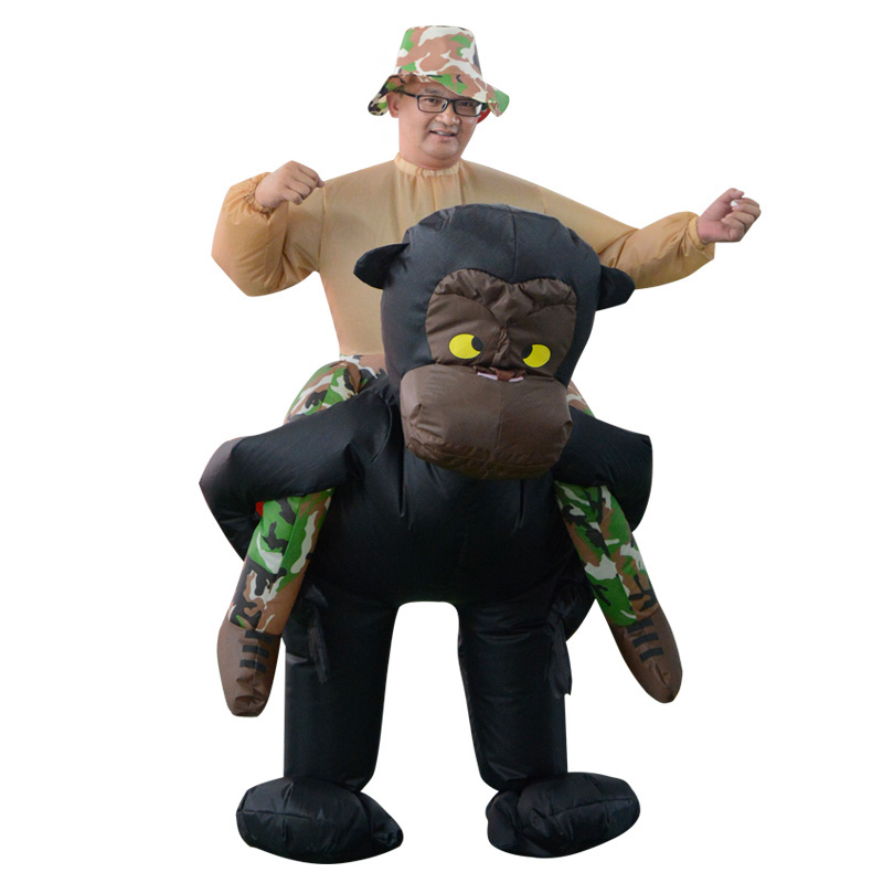 Orangutans Halloween Inflatable Costumes For Woman Man Adult Ride on Sky Horse Air Clothes Funny Costumes Animal party Carnival