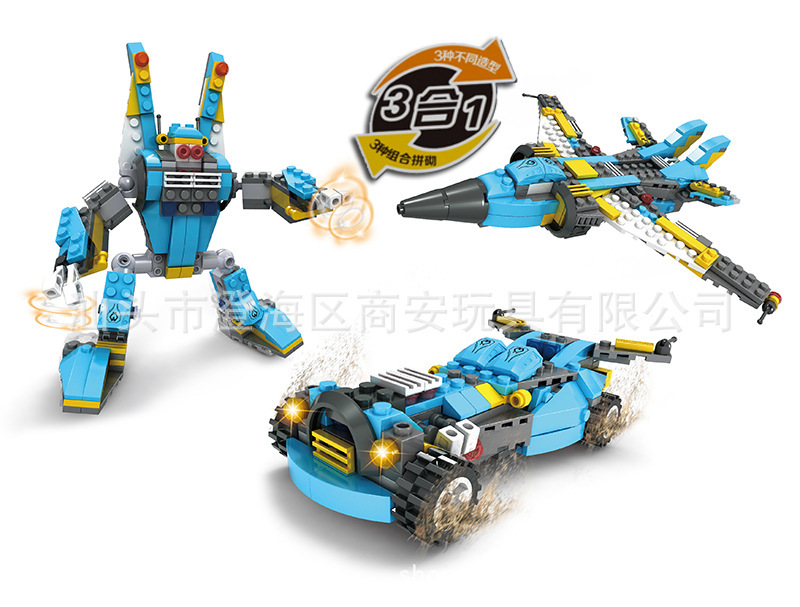 Robot Building Block Sets Compatible with lego 3 in 1 car Airplanes 3D Construction Bricks Educational
