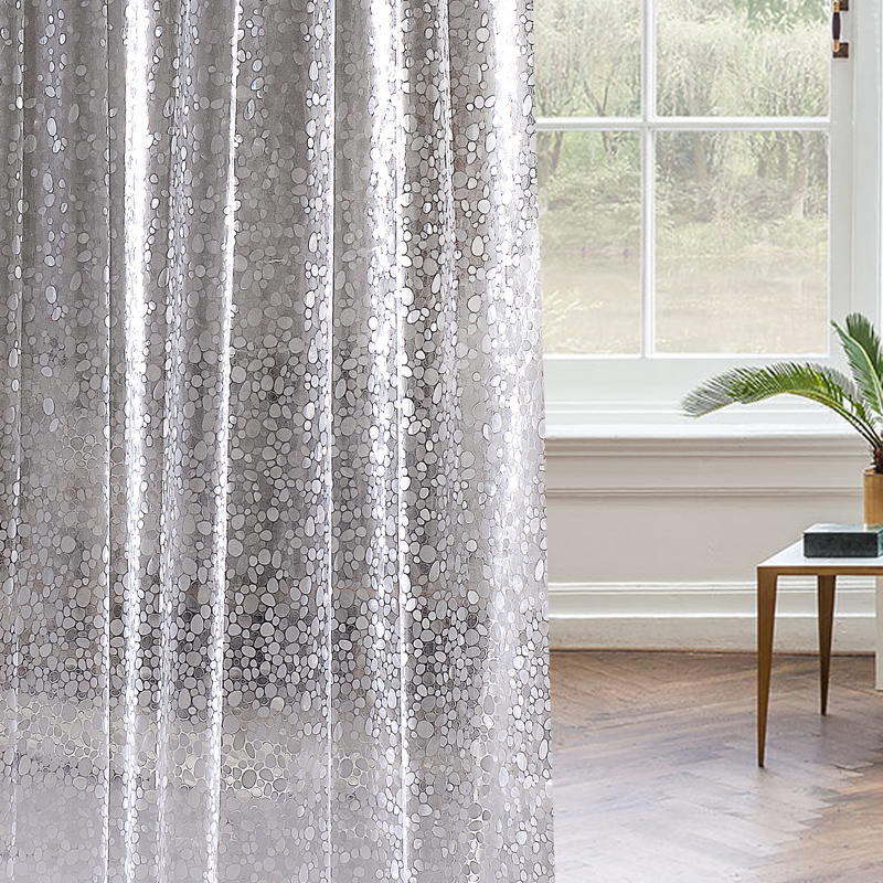 Upscale Pebble Shower Curtain Waterproof Thickened Mildew Warm Bathroom Partition Cloth In Curtains From Home
