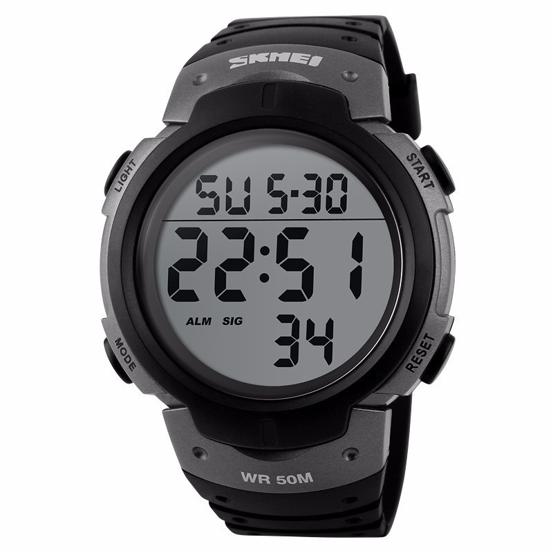 SKMEI Luxury Brand 50 Meter Waterproof Mens Sports Watches Digital LED Military Electronic Wrist Watch Fashion Sport Clock Men 2016 brand o t s fashion outdoor sport waterproof led mens clock digital