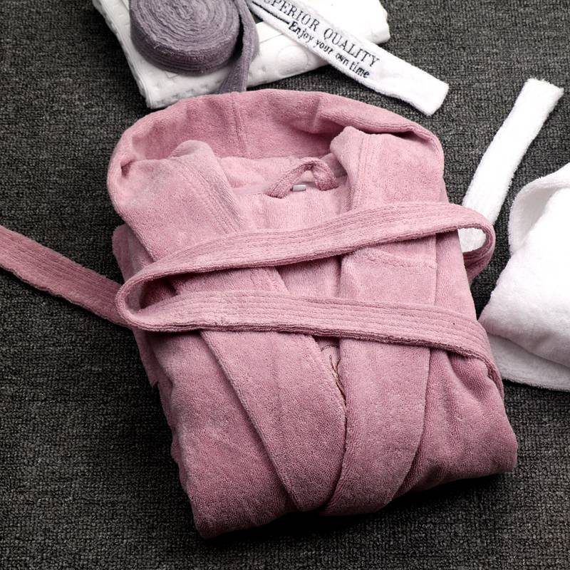 Winter Hooded Women Bathrobes Cotton Thick Nightwear Home Clothes Towel Warm Bath Robe Dressing Gowns For