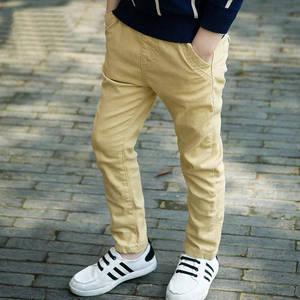 Image 4 - ילד ילד מכנסי קזואל סתיו וחורף ילד מכנסיים בתוספת קטיפה 2017 בגדי ילדים סתיו עיבוי ילד גדול מכנסיים