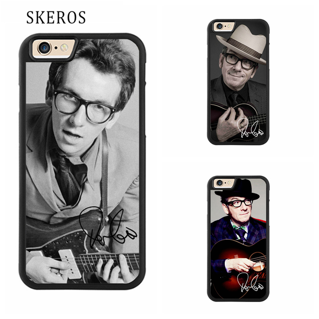 low priced 36652 1b584 US $4.99 |SKEROS Elvis Costello Full Protective cover cell phone case for  iphone X 4 4s 5 5s 6 6s 7 8 6 plus 6s plus 7 plus 8 plus #ee171-in Fitted  ...