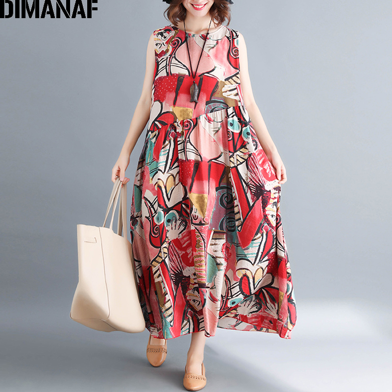 Grande nv9245cn Femme Señora Casual Vestido Dimanaf De Sin Más Tamaño Mujeres red Largo Elegante blue Nv9245cn Mangas Verano Sundress Ropa Imprimir nCHxnv7wq