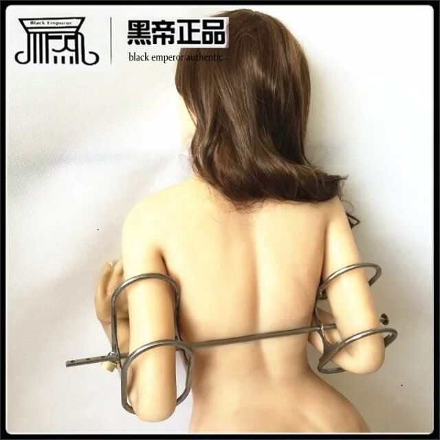 Newest design stainless arm bondage harness hand cuffs arm restraints bdsm fetish adult games sex products for women man