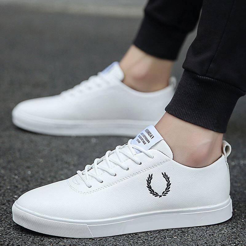 Homens Sapatos Casuais Primavera Outono imitação de couro Sapatos Baixos Lace-up Low Top Masculino Tênis sapatos tenis masculino adulto nanX45