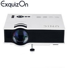 Originais unic uc40 + led lcd home theater projetor portátil usb/sd/av/entrada hdmi 800*480 multimídia beamer/projetor(China (Mainland))