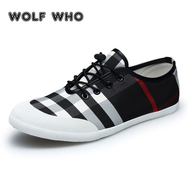 86323fb9bb76 WOLF WHO Men shoes 2018 summer Hot Sale lightweight Flats Plimsolls sneakers  men Beathable Slip On Moccasins Krasovki Tenis X017